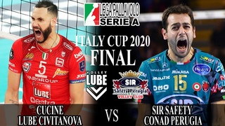 Cucine Lube Civitanova vs Sir Safety Conad Perugia | FINAL | Italy Cup 2020 | Highlights |Volleyball