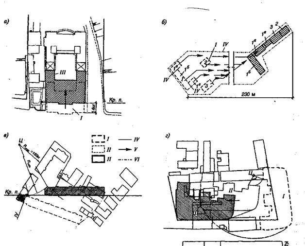 Схемы передвижения зданий