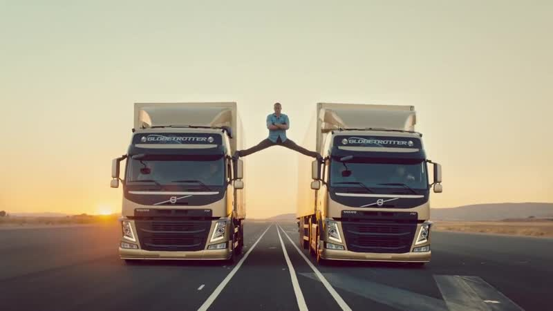 [Volvo Trucks] Volvo Trucks - The Epic Split feat. Van Damme (Live Test)