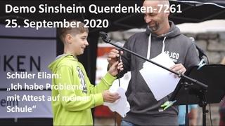 """Schüler Eliam """"Ich habe Probleme mit Attest auf meiner Schule""""  Sinsheim #querdenken7261"""