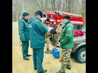 Проведение смотра сил и средств, привлекаемых для тушения природных пожаров