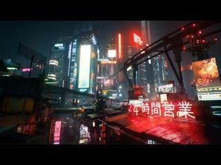 Night City - Midnight Ads [4K, sounds, music]