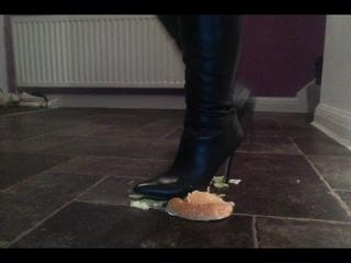 chicken burger crush in faith knee boots… yummy yummy