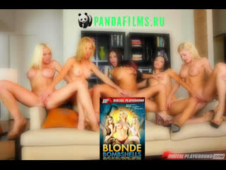 Бомбические блондинки с участием Alexis Texas, Nikki Benz, Riley Steele, Kayden Kross, Jesse Jane \ Blonde Bombshells(2014)