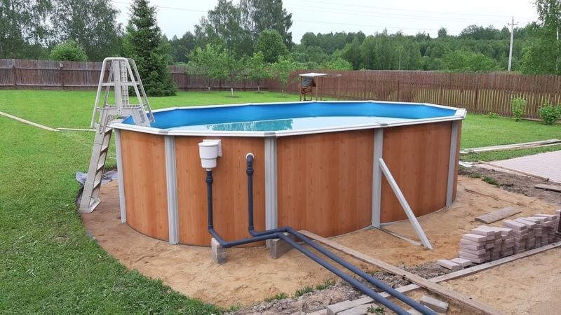 Самый популярный Каркасный Бассейн Подогрев Станция Эсприт Биг 5 5х3 7х1 35 Atlantic Pool