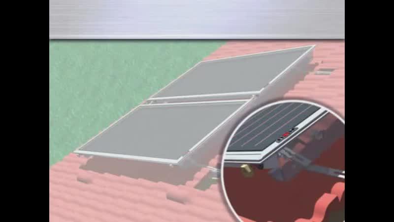 Как установить солнечный коллектор