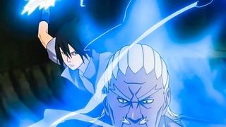"""Учиха Саске сражается против 5 Каге [Полная Битва В Полный Экран]  / """"Учиха Мадара"""" спасает Саске."""