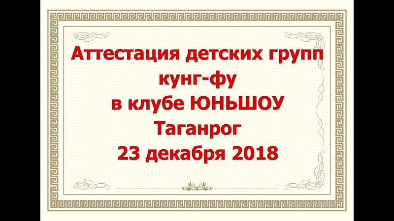 Первая аттестация детских групп кунг фу в клубе ЮНЬШОУ Таганрог