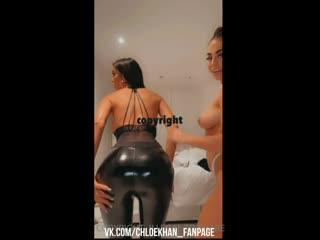 Chloe Khan вместе с подругой Катей с голыми большими сиськами показывают свои прелести жопу порно big tits boobs ass porno