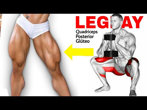 Super Treino de Pernas Completo Com Halteres Quadriceps Posterior de Coxa e Glúteo