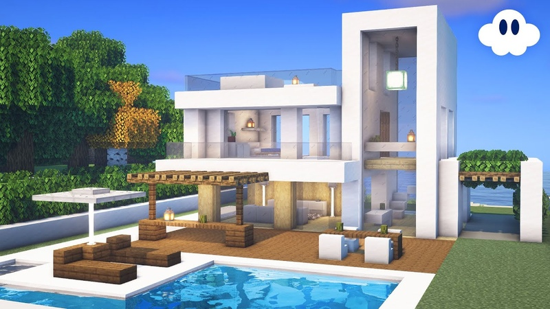 Minecraft How to Build a Modern House Survival House
