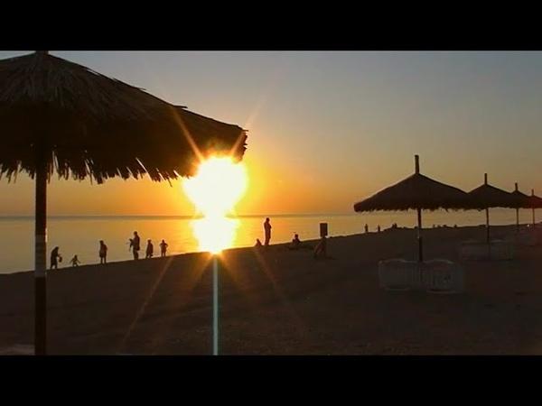 Азовское море Ейский район Сезон в разгаре Встречаем закат 27 июля 2020 год