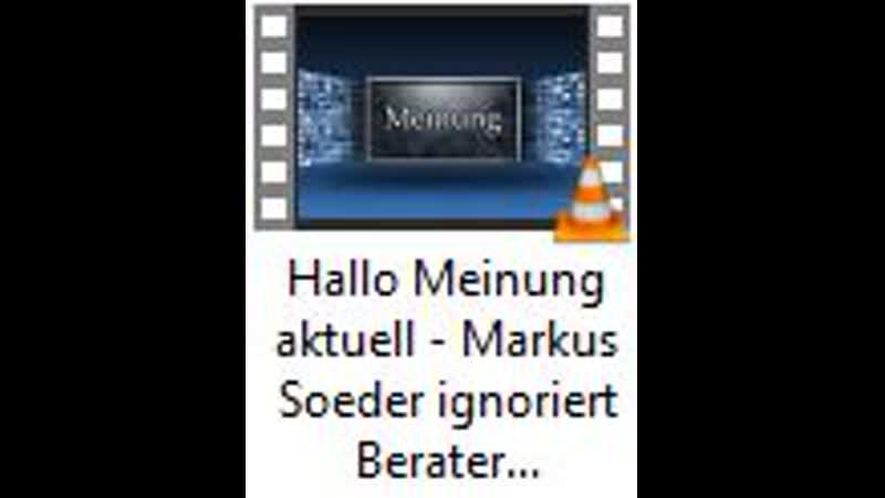 Hallo Meinung aktuell Markus Soeder ignoriert Berater