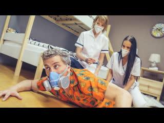 Jennifer Mendez, Ariela Donovan - Stuck Between Two Nurses - Threesome Sex Blonde Latina Big Natural Tits Ass Rimjob Doctor Babe