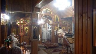 Господи, помилуй! Молится священство в алтаре.(0:50).