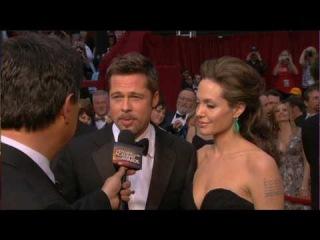 HD Brad Pitt Angeline Jolie Kate Winslet Oscars 2009 Red Carpet