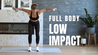 Low Impact FULL BODY HIIT / Workout with Weights