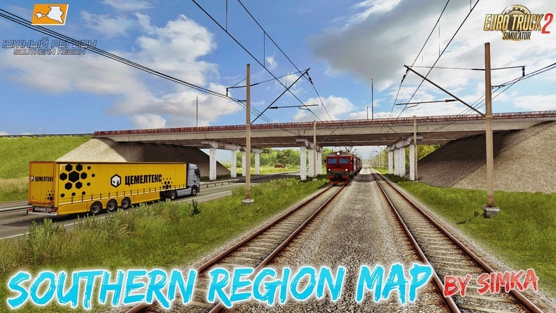 Southern Region Map v9 0 1 38 x for ETS2 By SimKA