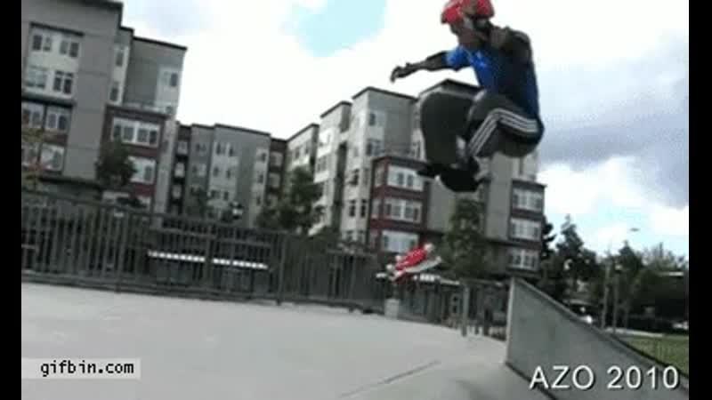 AZO slo-mo skateboard flip