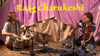 Raag Charukeshi. Nastya Saraswati (violin), Denis Kucherov (tabla). St. Petersburg. April 13, 2015
