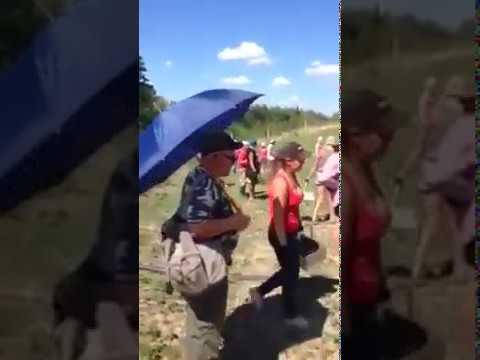 Польский фермер подрался сукраинскими мигрантами Polish farmer had a fight with Ukrainian migrants
