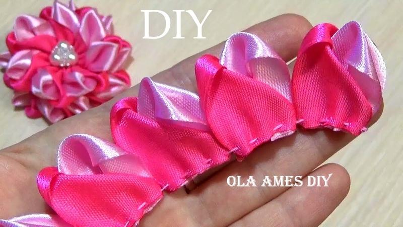 Одни из САМЫХ КРАСИВЫХ Цветов что Я Делала Потрясающие ЦВЕТЫ из ЛЕНТ Ola ameS DIY