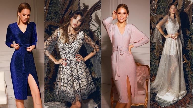 Нарядные вечерние платья праздничные женские платья сезона