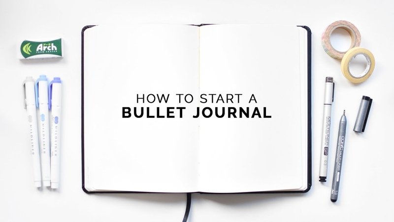 How to start a bullet journal ⭐ a step by step guide