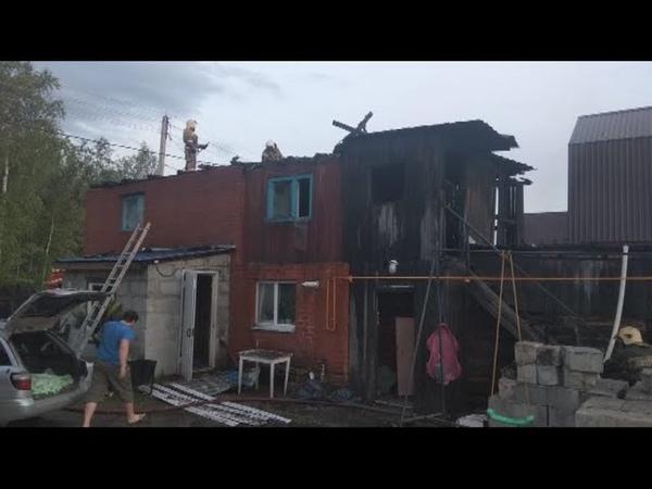 Пожары в Югорске. Сгорел дом