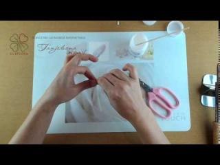 Сборка бутоньерки «Дикая роза» в японской технике Tanjobana