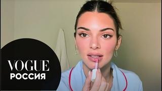 Кендалл Дженнер о любимых масках для лица и макияже с эффектом легкого загара