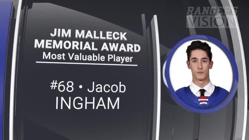 ОХЛ 2019 20 Джейкоб Ингэм назван самым ценным игроком Китченер Рейнджерс в этом сезоне