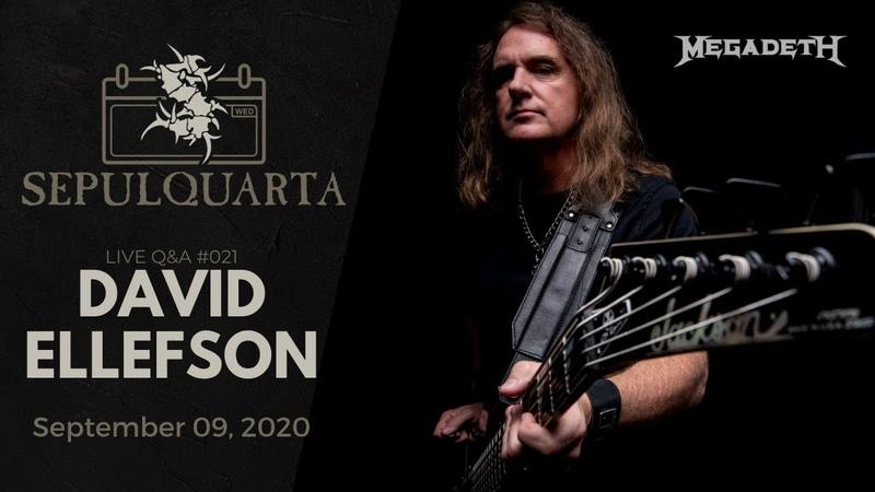 SepulQuarta LIVE Q A with David Ellefson Megadeth Metal Allegiance Andreas Paulo
