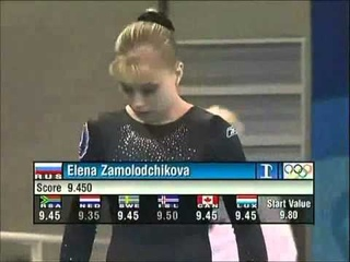 Elena Zamolodchikova (RUS) - 2004 Olympic Games - Vault Event Final