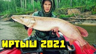 Рыбалка на Иртыше 2021. Трофейные  щуки на джиг. Снова побил рекорд щука 13 600 гр. Часть 1.