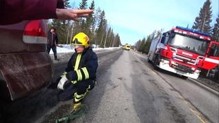 Вылетели в КЮВЕТ на Hyundai Santa Fe в Финляндии / как ФИНЫ СПАСАЮТ РУССКИХ на дороге