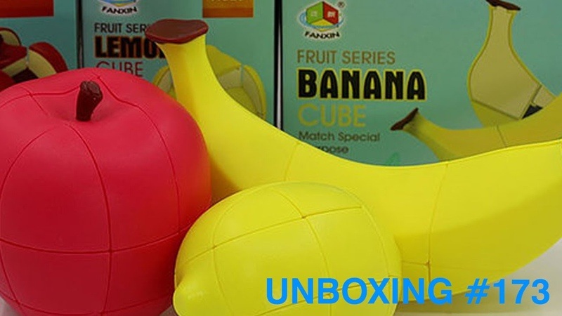 Unboxing №173 FanXin Fruit Serues Banana Cube Lemon Cube Apple Cube