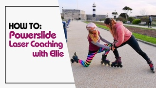 How to stop on inline skates using the Powerslide. Laser Coaching with Ellie (watch till the end).