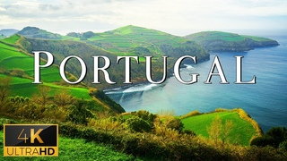 FLYING OVER PORTUGAL (4K UHD) - Relaxing Music With Stunning Beautiful Nature (4K Video Ultra HD)