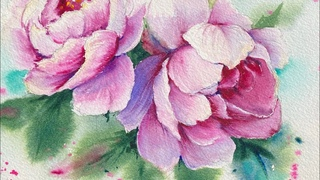 Watercolor Painting -Peony Series -Tutorial Step by Step