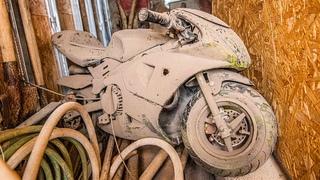 Mini YAMAHA R6 edition Valentino Rossi - Restoration Abandoned Minibike 49cc