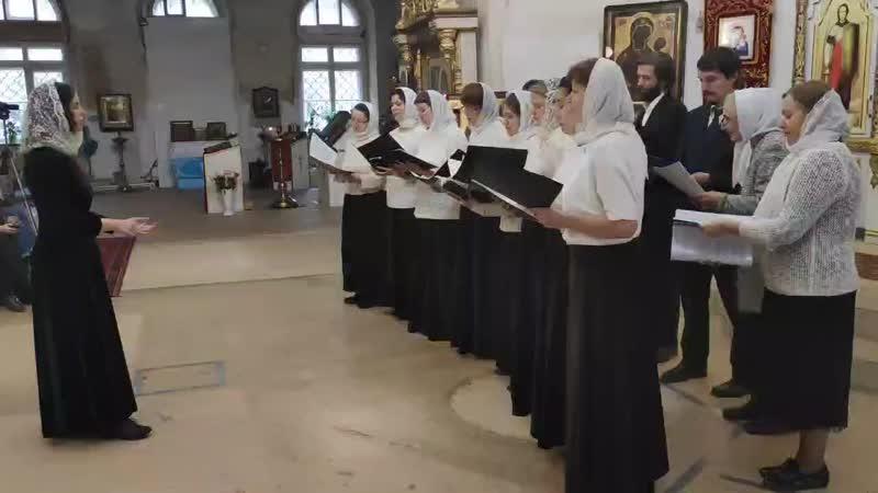 Миссионерский хор Новоспасского монастыря Правило веры Руководитель Хохлова Мария