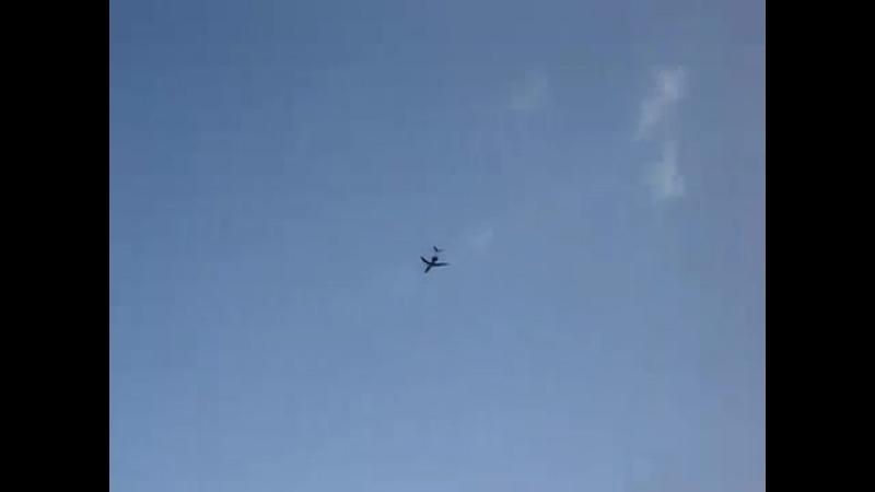 ТУ-134, взлёт с аэродрома Чкаловский вечером 07.05.2010г.