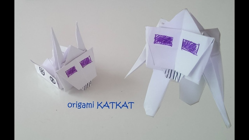 Kağıttan robota dönüşen kamyon yapımı - Origami transformers yapımı