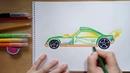Как нарисовать гоночную машинку хот вилс