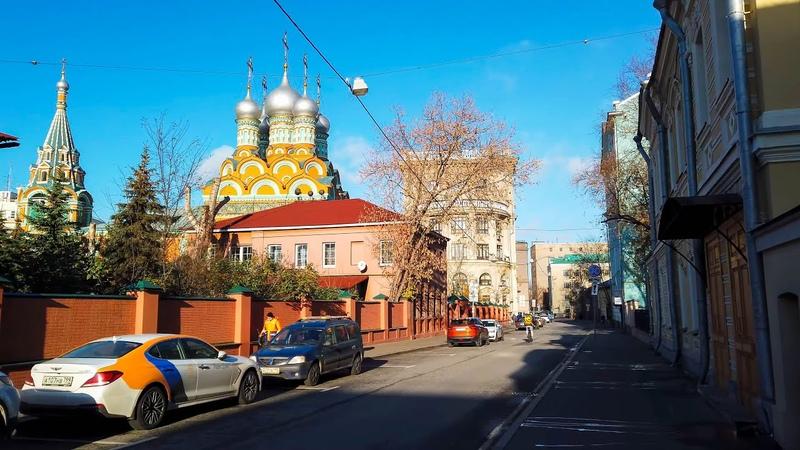 ⁴ᴷ⁶⁰ Walking Moscow from Dobryninskaya Mt Ulitsa Bol'shaya Polyanka to The State Tretyakov Gallery