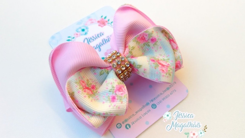 Laçosdegorgurão Ribbonbow hairclips diy Laço Fofo Ribbon Bow Bow Grosgrain Ribbon Hair Clip