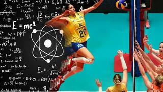 300 IQ Volleyball Player - Ana Beatriz Corrêa | Clever Spikes and Blocks (HD)