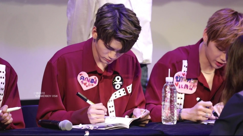 180610 • Wanna One • Hottracks Fansign
