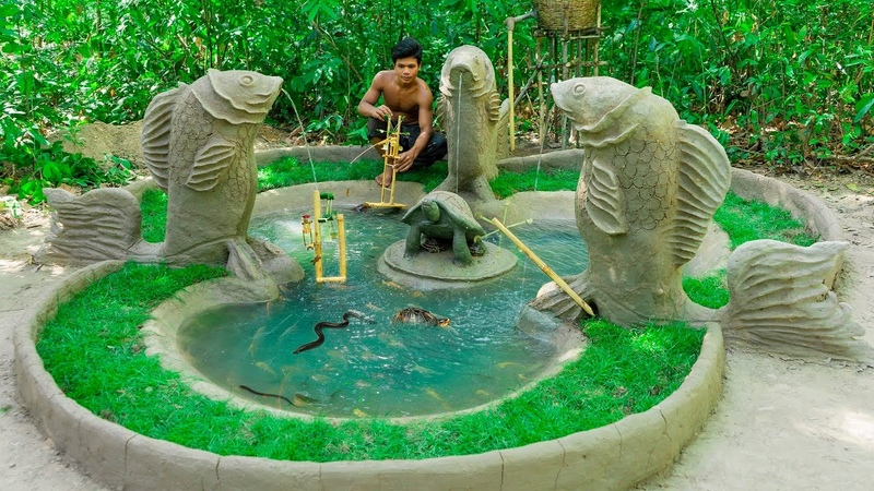 Dig King Fish Statue With Mud Turtle Pond Raising Turtles Shoftshell Tortoise Eel Fish